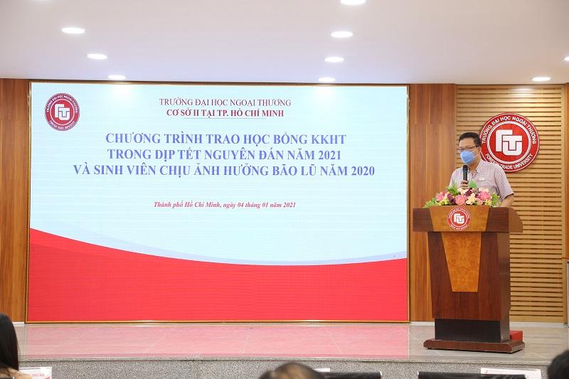 PGS, TS Nguyễn Xuân Minh- Giám đốc Cơ sở II phát biểu tại buổi Lễ