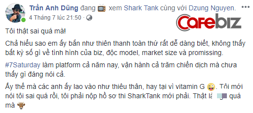 Bình luận trong status này của ông Dũng, ông Trần Chí Hiếu - sáng lập Orion Media cũng cho rằng startup này đã được đầu tư và nghiên cứu từ trước.